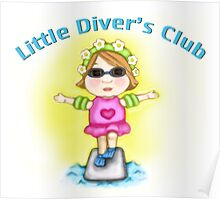 Little Diver's Club Girl Poster