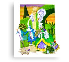 Birds of a Feather (Watercolour on cold--press illust Board)) Canvas Print