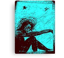 Black Doll series -blue, Rose Loya* Canvas Print