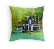 Luxury angler villa Throw Pillow