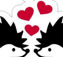 Hedgehog red hearts love Sticker