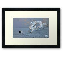 The Superior Elkwolf Monster Framed Print