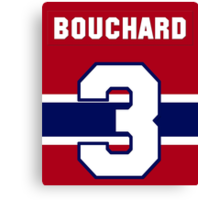 Butch Bouchard #3 - red jersey Canvas Print