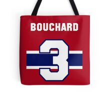 Butch Bouchard #3 - red jersey Tote Bag