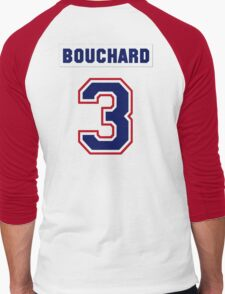 Butch Bouchard #3 - white jersey Men's Baseball ¾ T-Shirt