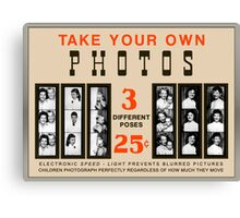 Photobooth Display Canvas Print
