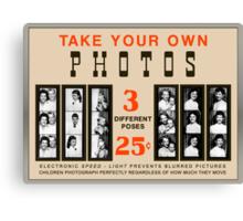 Photobooth Display Canvas Print