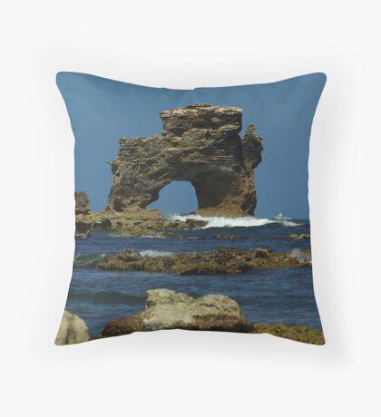 The Captains Head Rock Throw Pillow