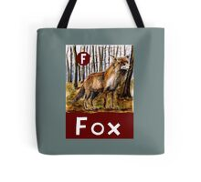 F is for Fox Tote Bag