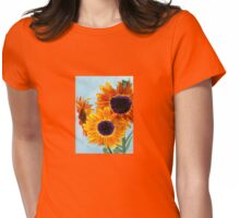 SERENITY Sunflowers Womens Fitted T-Shirt