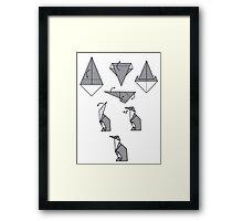 Origami Penguin Framed Print