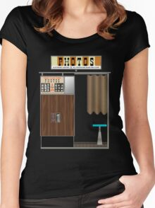 1950's Photobooth Women's Fitted Scoop T-Shirt