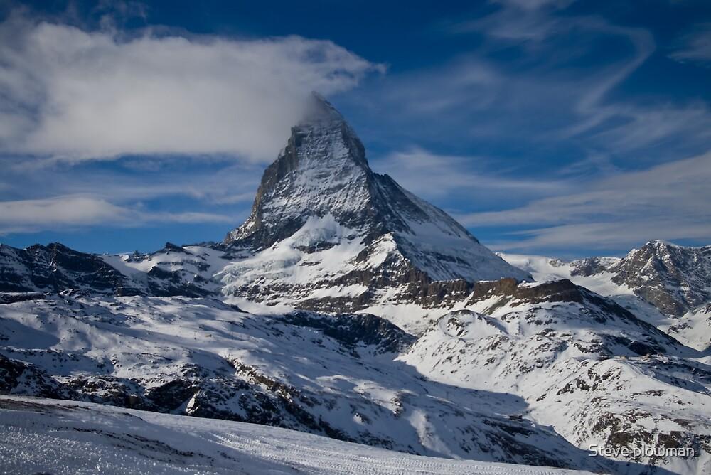 The Matterhorn from Zermatt by Steve plowman