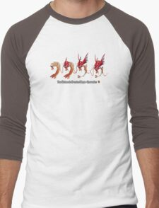 How Mega-Gyarados was Created Men's Baseball ¾ T-Shirt