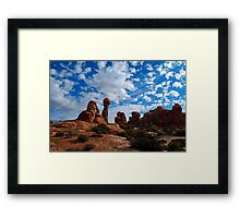 Balanced Rock, Arches National Park Framed Print