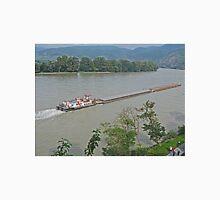 Barge, Danube River near Durnstein, Austria Unisex T-Shirt