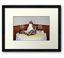 Delicious Wedding Cake Framed Print