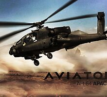 AH-64 Apache Helicopter by rott515