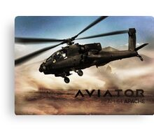 AH-64 Apache Helicopter Canvas Print