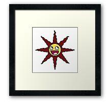 Praise the AWESOME Sun Framed Print