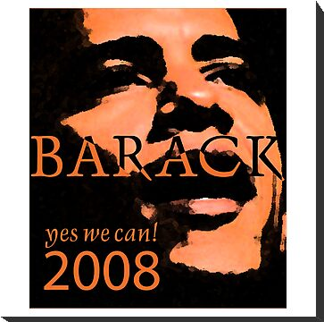 Barack Obama Yes We Can Slogan by Zehda