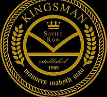 Kingsman the tailors - black and gold by hopography
