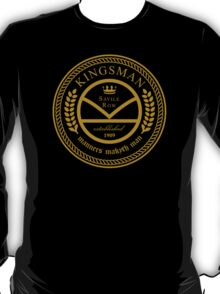 Kingsman the tailors - black and gold T-Shirt