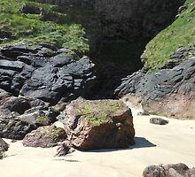 Cave Entrance - Tolsta Beach by Kathryn Jones