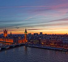 Sunset Over London - A Bird View by atomov