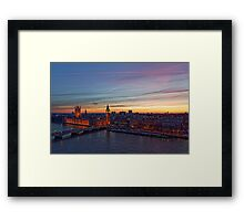 Sunset Over London - A Bird View Framed Print