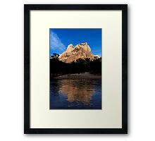 The Sentinel and North Fork Virgin River. Framed Print