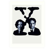 X-FILES - Scully & Mulder Art Print