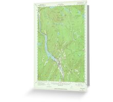 Maine USGS Historical Map Bingham 306474 1956 62500 Greeting Card