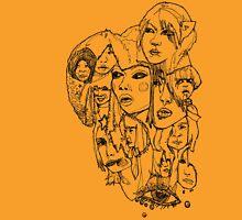 Harajuku Black Womens Fitted T-Shirt