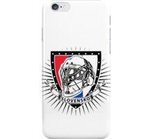 Slovakia ice hockey helmet shield iPhone Case/Skin