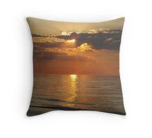 Sunset on Lake Michigan Throw Pillow