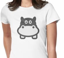 Hippo head Womens Fitted T-Shirt