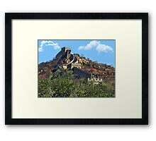 万里长城 GREAT WALL OF CHINA 万里长城  VARIOUS APPAREL Framed Print