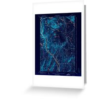 Maine USGS Historical Map Bingham 460208 1905 62500 Inversion Greeting Card