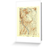 Maine USGS Historical Map Bingham 460208 1905 62500 Greeting Card