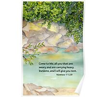 An Invitation to Rest- Matthew 11:28 Poster