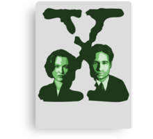 X-FILES - Scully & Mulder (green) Canvas Print