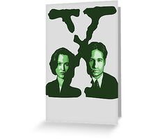 X-FILES - Scully & Mulder (green) Greeting Card