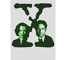 X-FILES - Scully & Mulder (green) Photographic Print