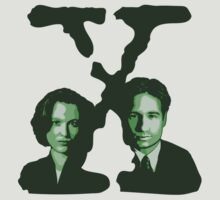X-FILES - Scully & Mulder (green) by Théo Proupain
