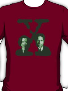 X-FILES - Scully & Mulder (green) T-Shirt