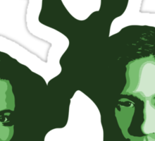 X-FILES - Scully & Mulder (green) Sticker