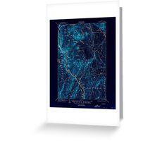 Maine USGS Historical Map Bingham 460209 1905 62500 Inversion Greeting Card
