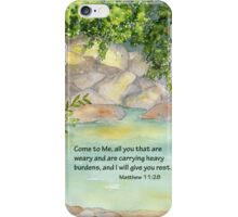 An Invitation to Rest- Matthew 11:28 iPhone Case/Skin