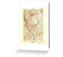 Maine USGS Historical Map Bingham 460209 1905 62500 Greeting Card
